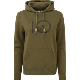 tentree Ten Hoodie Dame Olive Night Green Heather